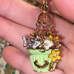 Juicy Couture Hanging FLOWER POT charm